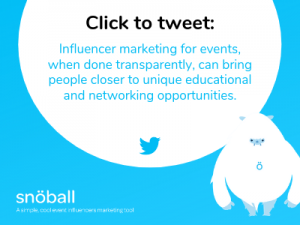 Micro influencers for events