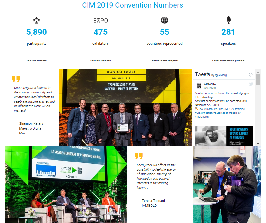 Event landing page examples - CIMBC20